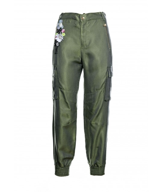 Pantaloni Cargo Con Applicazioni Fracomina