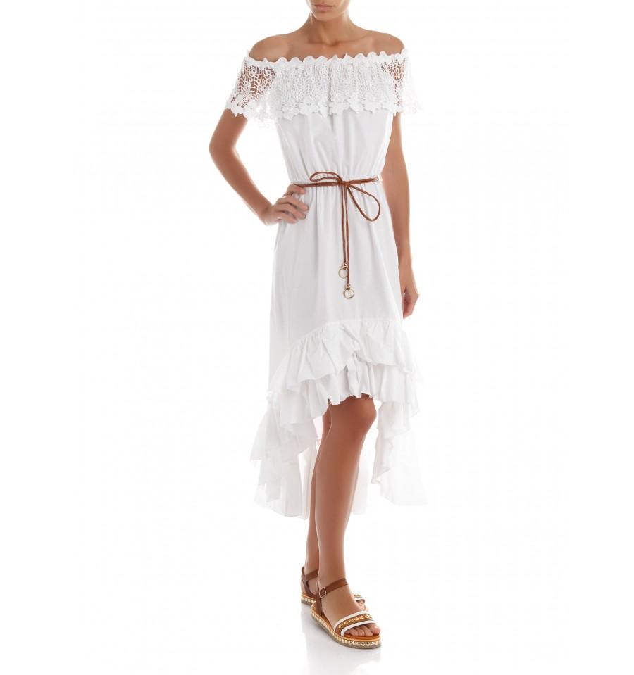 low priced 3cee0 cc5e4 Dress Flounces And Macramé Renaissance - Vestiti Firmati Life Smiles
