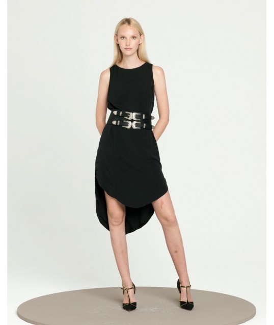 Asymmetrical Dress In Solid Color Fracomina