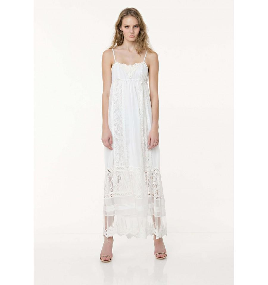 Long Dress With Bratelline Fracomina - Vestiti Firmati Life Smiles e9943e8b72b