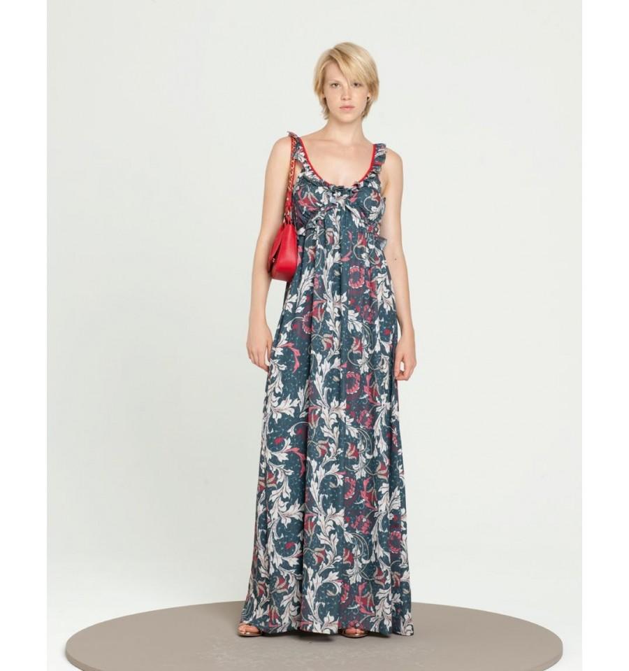 Long Fancy Dress Fracomina - Vestiti Firmati Life Smiles ebdffa2f219