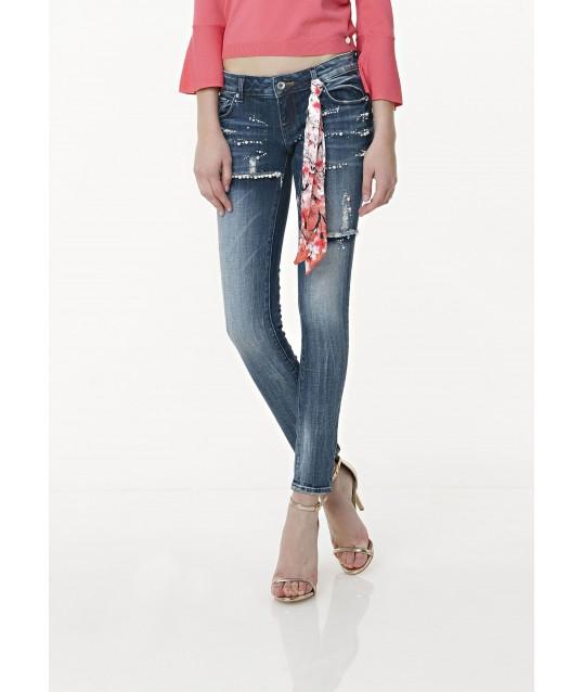 Jeans Shape Up Con Foulard Fracomina