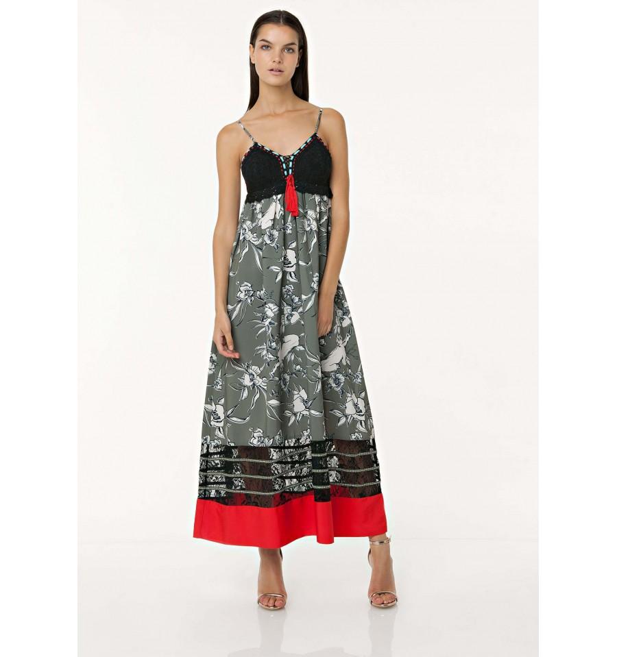 Long Dress With Top In Crochet Fracomina - Vestiti Firmati Life Smiles 20b7340e029