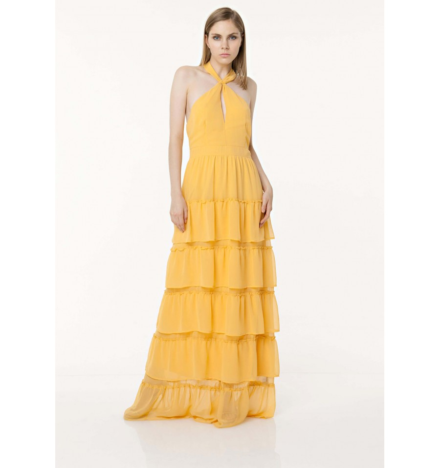 Dress Maxi With Ruched Fracomina - Vestiti Firmati Life Smiles 3e26ab58adf