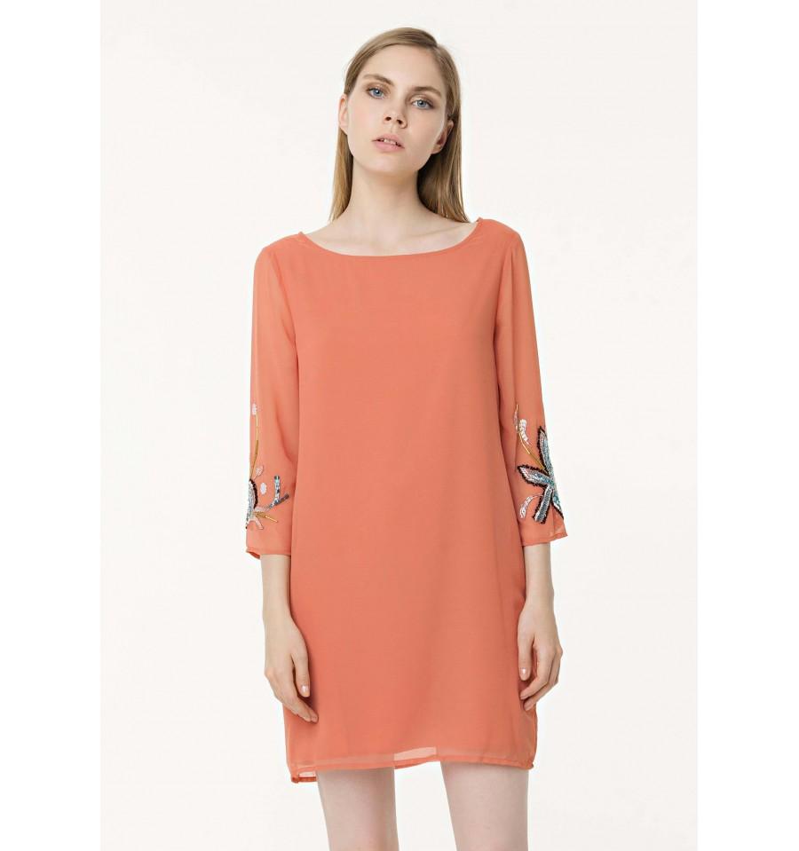 Short Dress 3 4 Sleeves Fracomina - Vestiti Firmati Life Smiles ad6ac60bd37