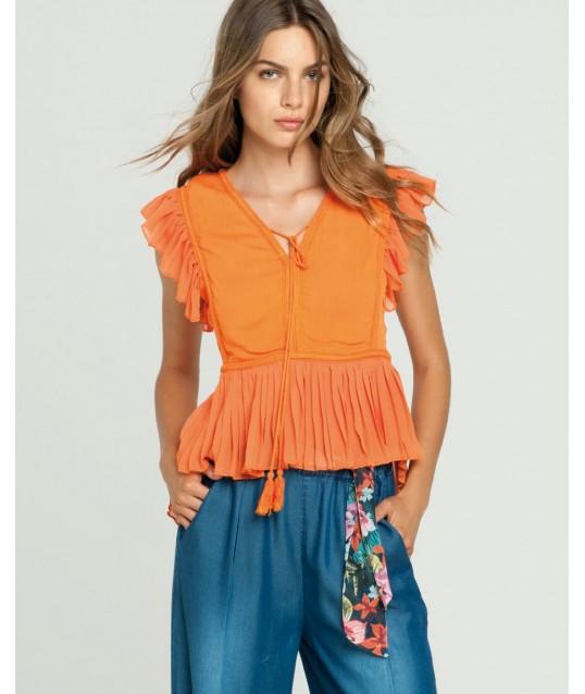Camicia Con Rouches Fracomina