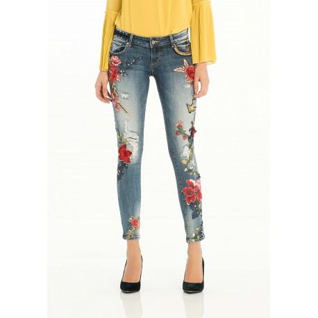Jeans Con Ricamo Fracomina