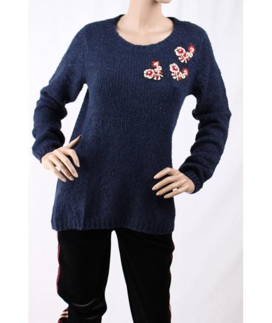 Maglione Con Applicazioni D Diana Gallesi