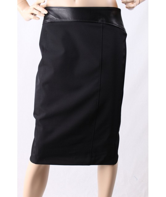 Skirt With Leather Insert D Diana Gallesi
