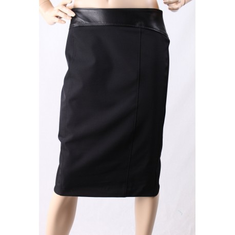 Skirt With Leather Insert D Diana Welsh