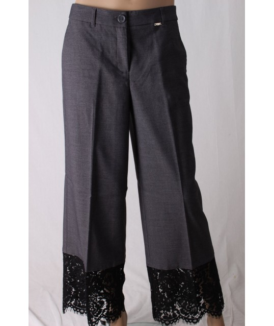 Pantaloni Con Fondo In Pizzo Le Coeur Twinset