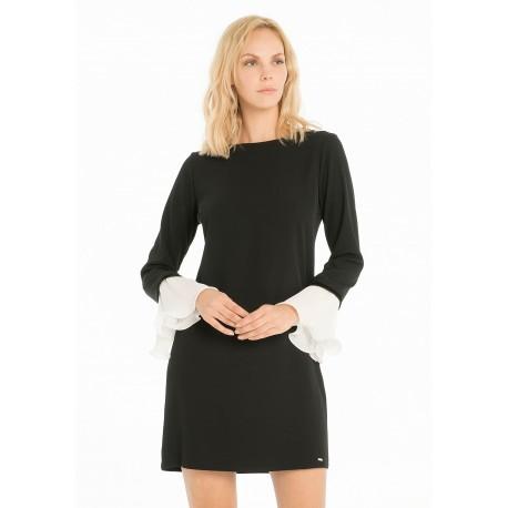 Short Dress With Boat Neck Fracomina