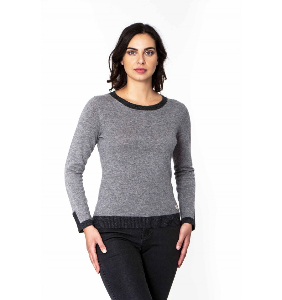 Crew Neck With Logo Dorabella - Vestiti Firmati Life Smiles c11df62f398