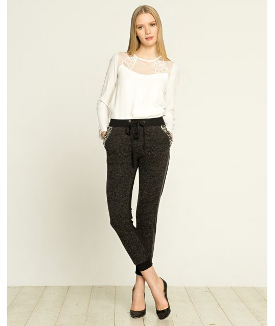 Pantaloni In Felpa Con Applicazioni Fracomina