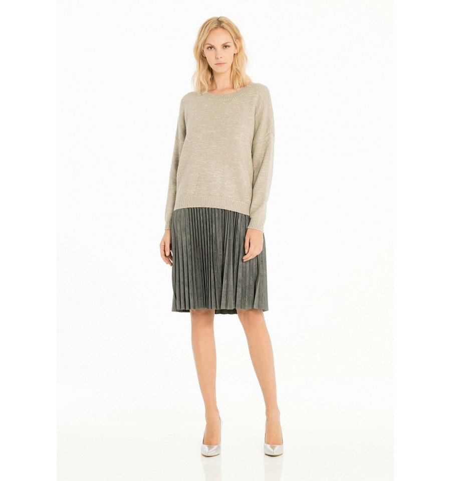 Dress With Pleated Skirt Fracomina - Vestiti Firmati Life Smiles 3ea4ea1476e