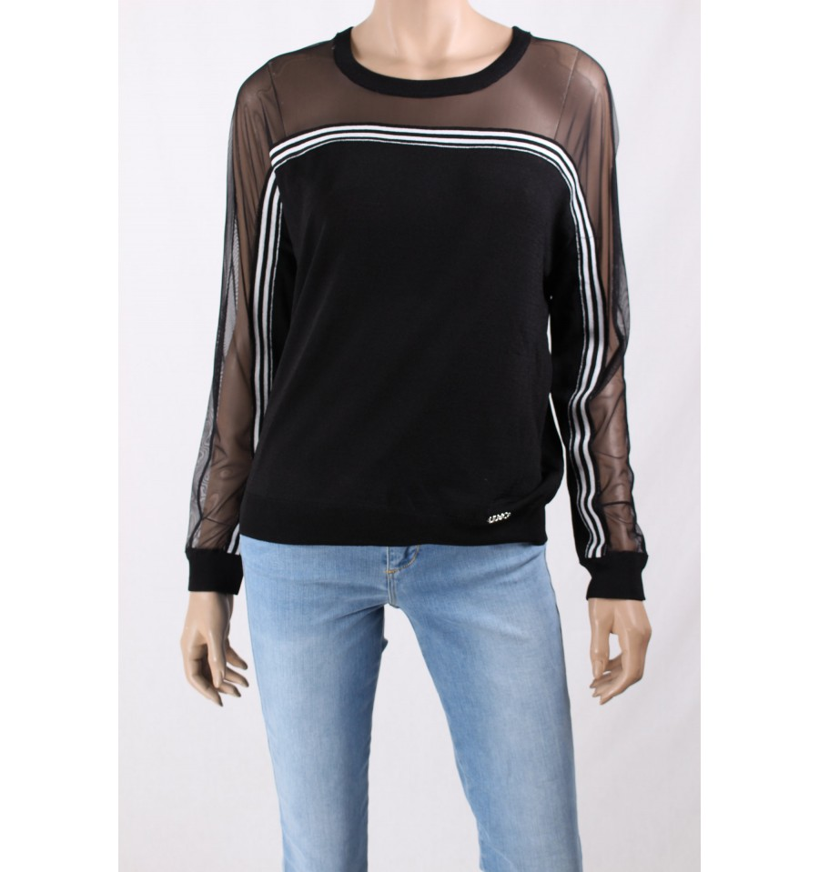 Jersey With Sleeves Veiled Liu Jo - Vestiti Firmati Life Smiles 5f20315cc5f