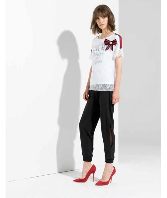 Pantalon En Sweat-Shirt Avec Les Cuisses Ouvertes Fracomina